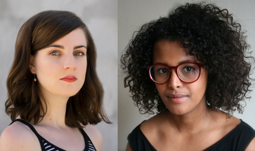 Headshots of Meghan Greeley and Intisar Awisse