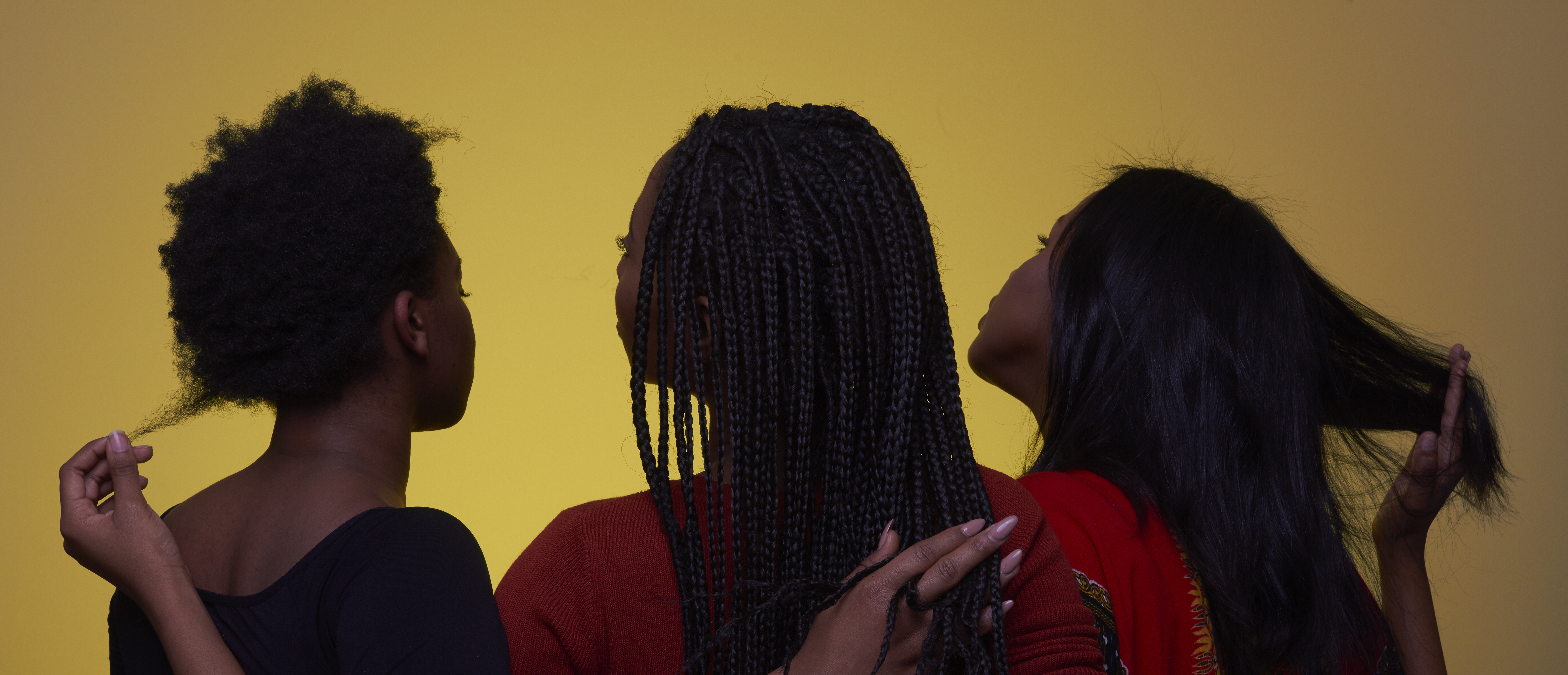 Bria McLaughlin, Asha James and Fatuma Adar. Photo by Cesar Ghisilieri.