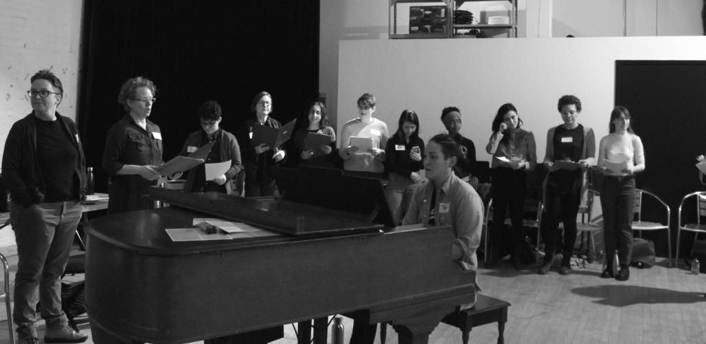 Teiya Kasahara leading Nightwood's Community Choir
