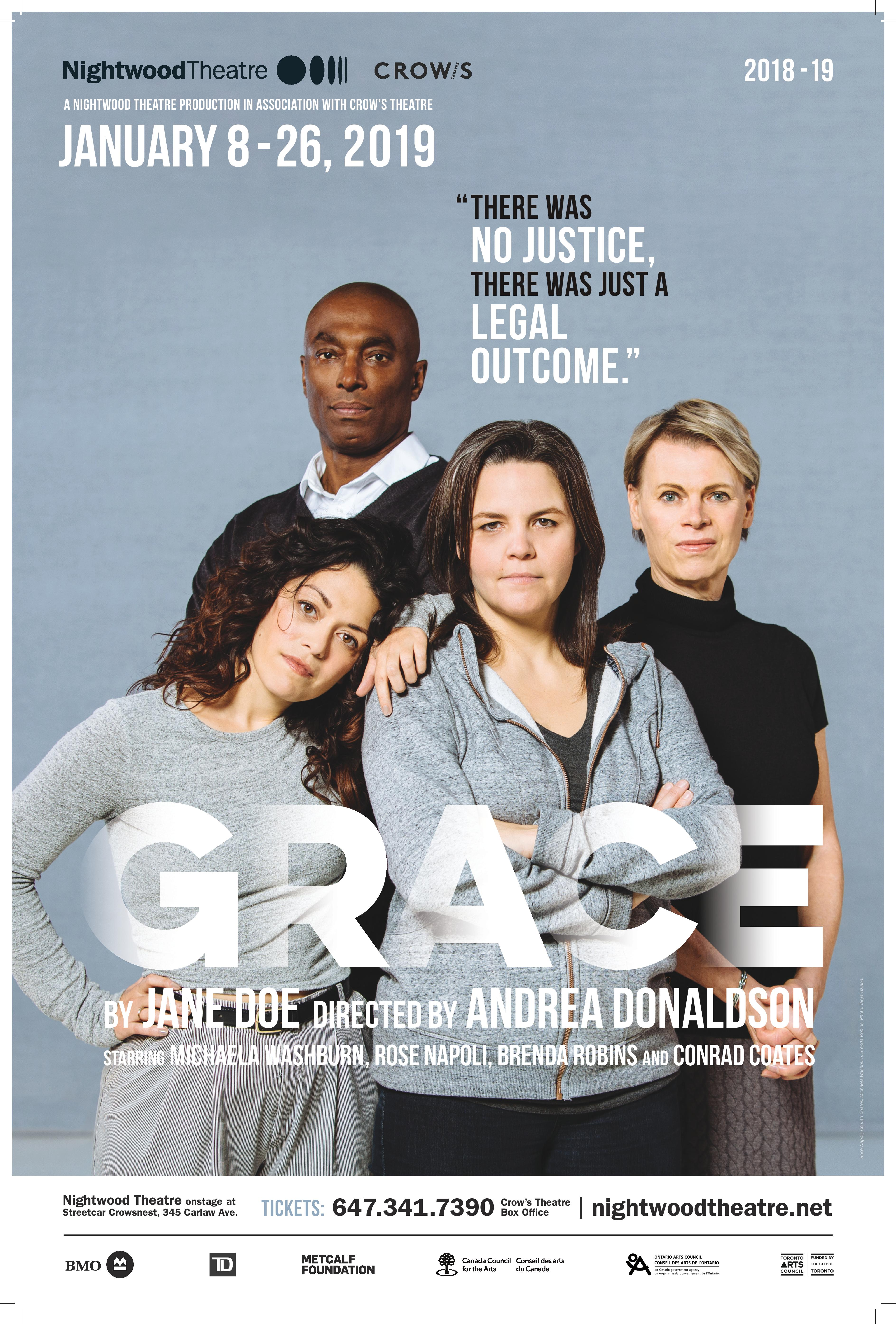 poster for Nightwood Production of GRACE January 2019