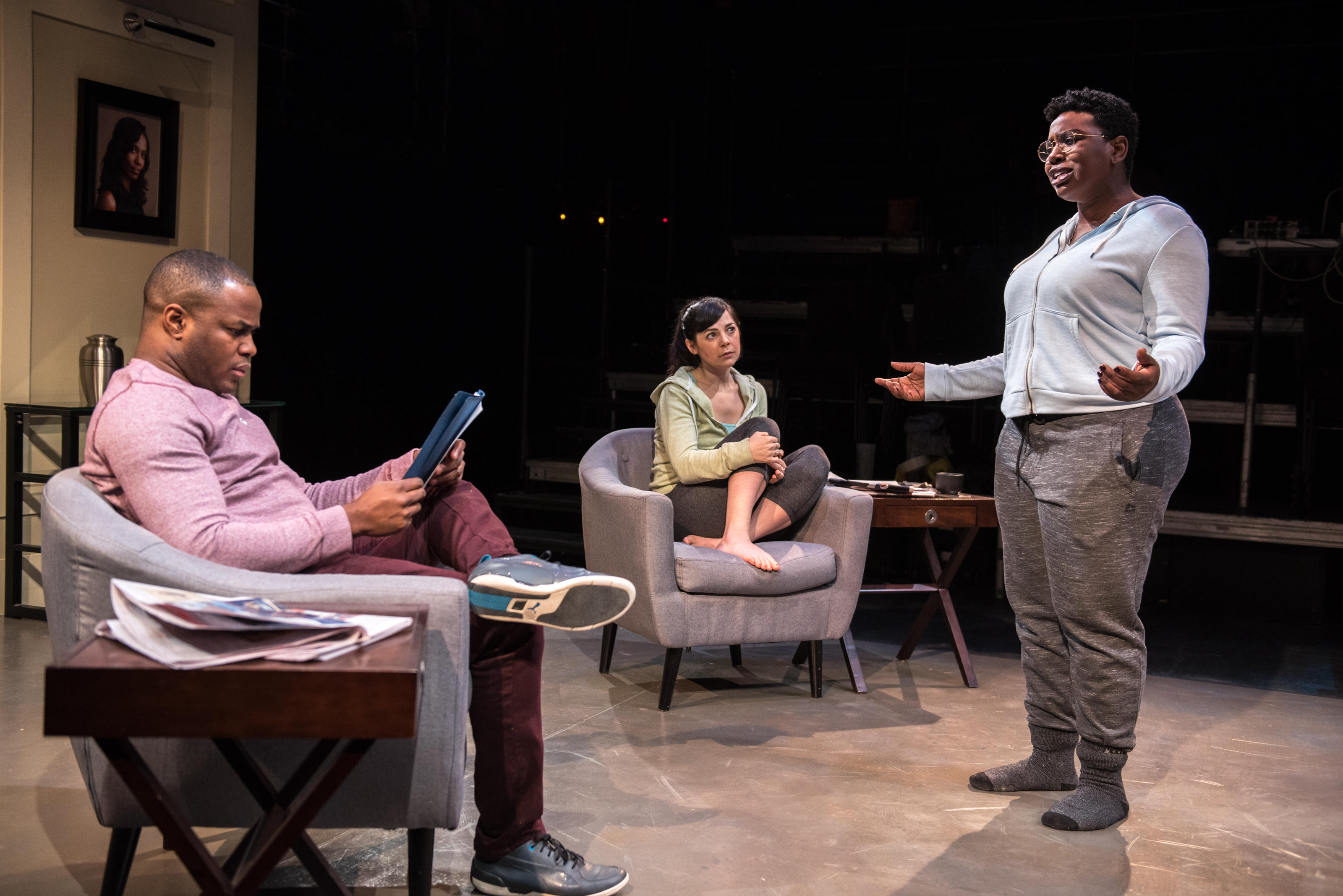 Matthew Brown, Natasha Greenblatt and Meghan Swaby - Calpurnia - photo by Dahlia Katz