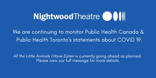We are continuing to monitor Public Health Canada & Public Health Toronto's statement about COVID 19.